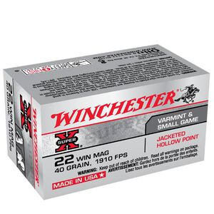 Winchester Super X .22 WMR Ammunition 50 Rounds, JHP, 40 Grain