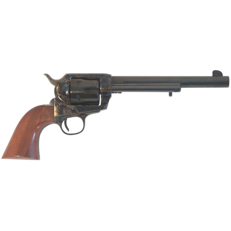 """Cimarron SA Frontier Old Model .44-40 Win Single Action Revolver 7.5"""" Barrel 6 Rounds Walnut Grip Case Hardened and Blued Finish"""