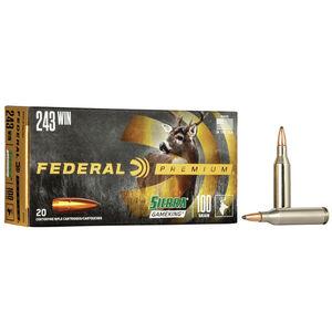 Federal Premium Sierra GameKing .243 Winchester Ammunition 20 Rounds 100 Grain Sierra GameKing Boat Tail Soft Point 2960fps