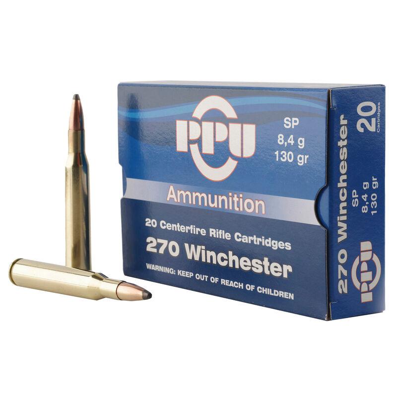 Prvi Partizan PPU .270 Winchester Ammunition 20 Rounds 130 Grain Soft Point 3060fps