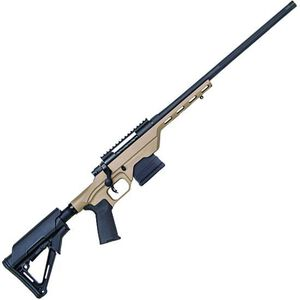 "Mossberg MVP LC Bolt Action Rifle 6.5 Creedmoor 20"" Fluted Bull Barrel MDT LSS Light Chassis FDE Stock Matte Blued Finish"