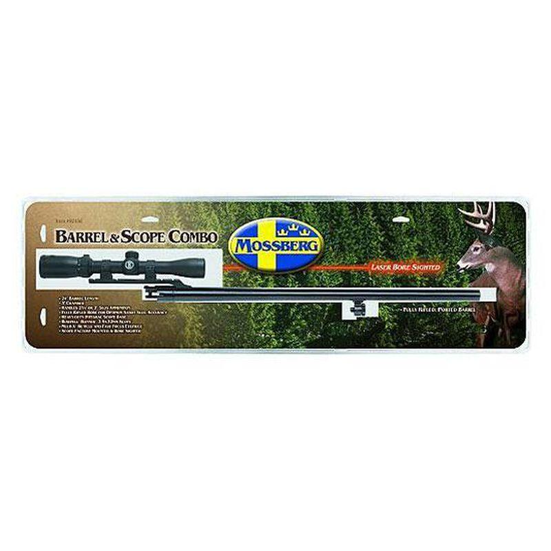 """Mossberg Rifled Slug Barrel And Scope Combo For Remington 870 12 Gauge 24"""" Matte 92356"""