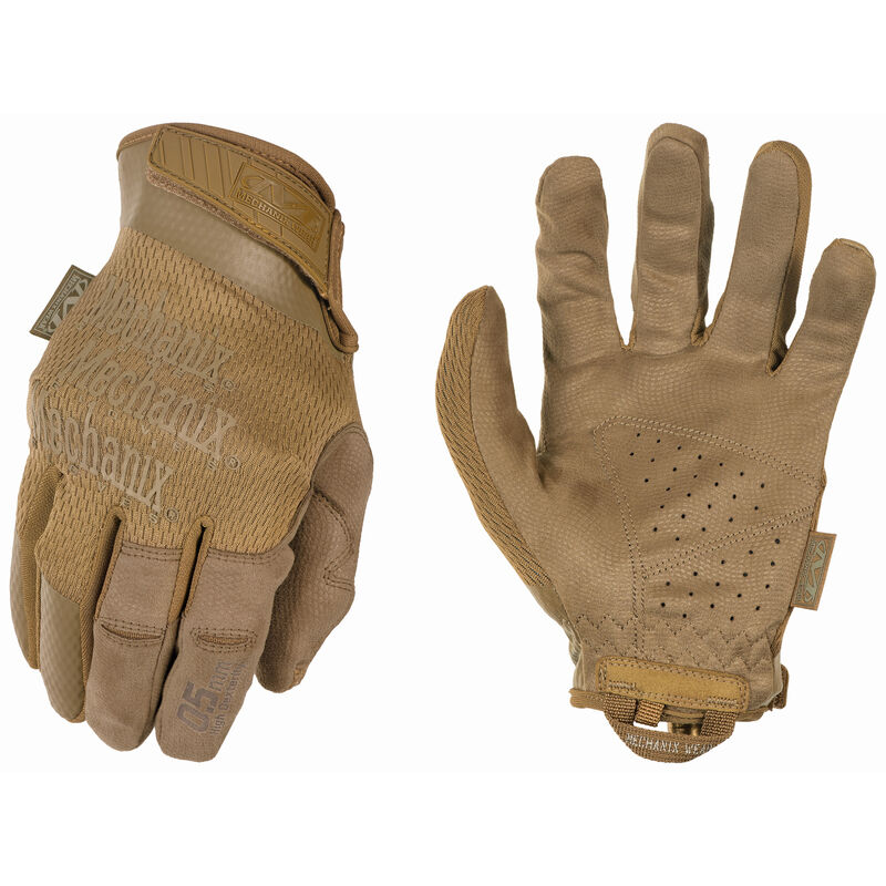 Mechanix Wear Specialty 0.5mm Coyote Gloves Size Small