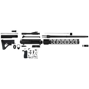 "TacFire LR-308 Complete Rifle Build Kit .308 Winchester 18"" Barrel Lower Parts Kit Matte Black Finish"