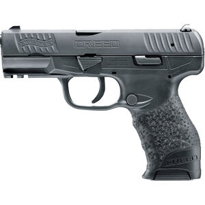 """Walther Creed 9mm Luger Semi Auto Pistol 4"""" Barrel 15 Rounds Low Profile 3-Dot Sights Polymer Frame Black Finish"""