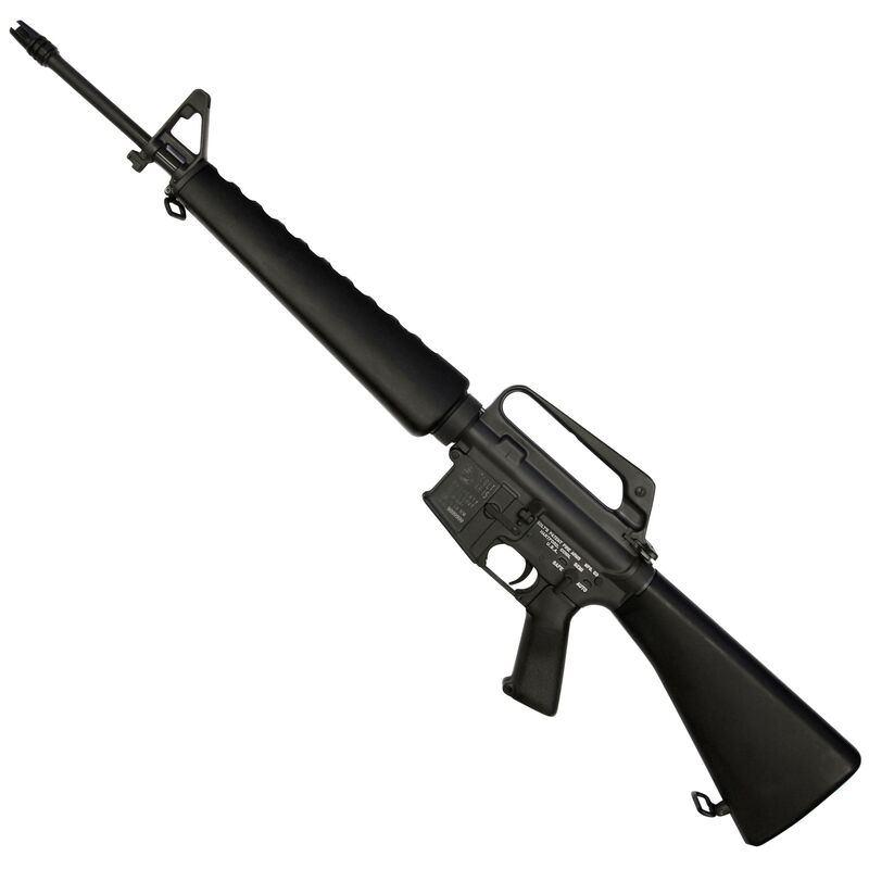 "Colt M16A1 Reissue AR-15 Semi Auto Rifle 5.56 NATO 20"" Barrel 20 Rounds A1 Fixed Sights Government A1 Pistol Grip Fixed Stock Black Furniture Matte Black/Gray Finish"