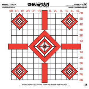 Champion Re-Stick Redfield Style Sight-In Targets, 25 Per Pack