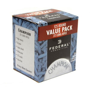Federal Champion .22LR Ammunition 36 Grain Copper Plated Hollow Point 1260 fps