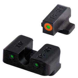 TRUGLO Tritium Pro Night Sights with Orange Focus Ring for Springfield XD Series