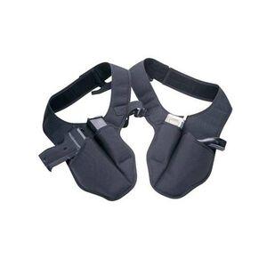 DeSantis Bodyguard Double Shoulder Holster Rig fits most Medium/Large Frame Firearms Ambidextrous Nylon Black N90BJLAZ0