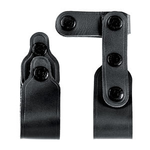 Galco VHS Tie Down Set Leather Black