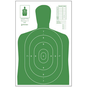 "Action Target B-27E Economy Target 23"" x 35"" Paper Green 100 Pack"