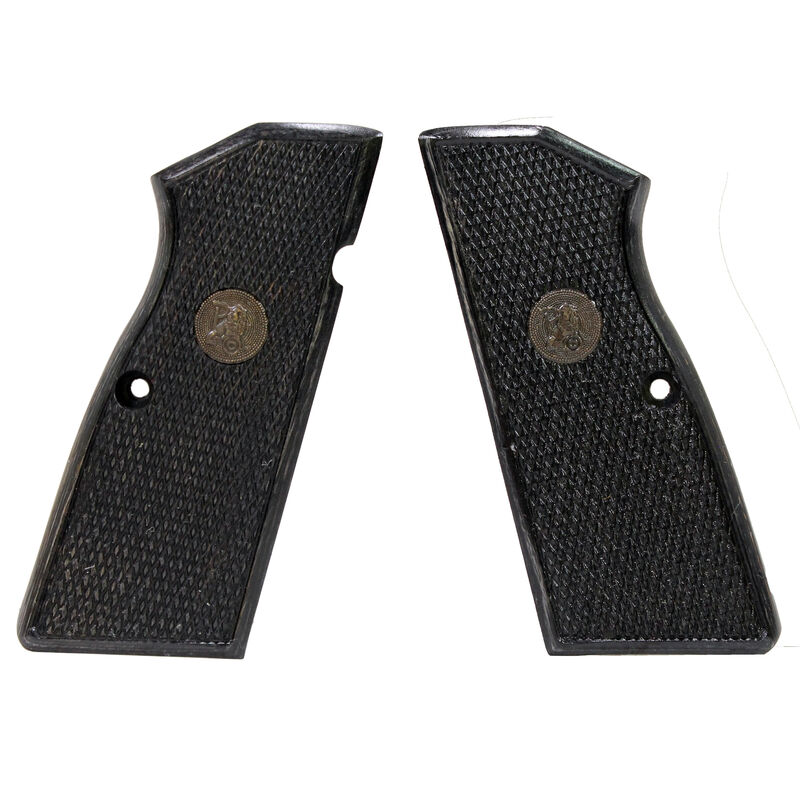 Pachmayr Renegade Wood Laminate Grips Browning Hi Power Checkered Charcoal 63271