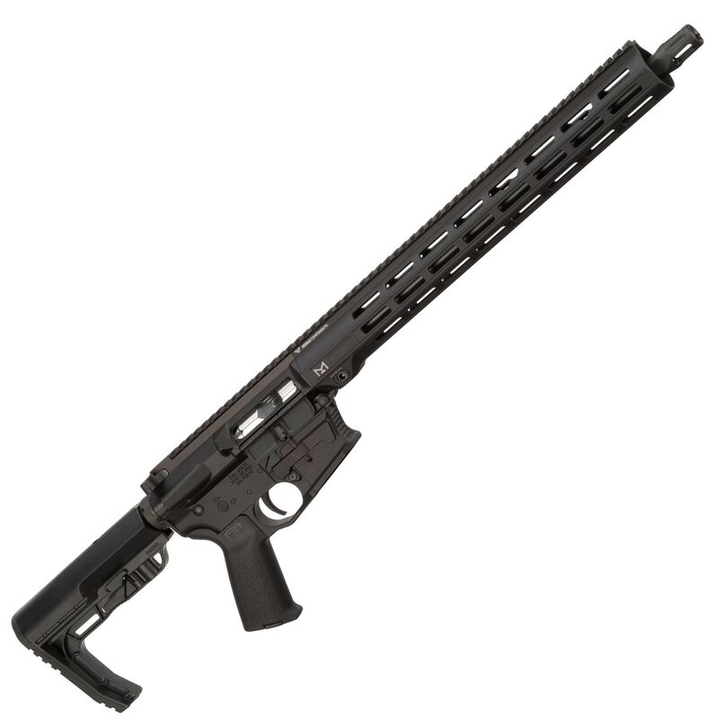 "Nordic Components PCC AR-15 Semi Auto Rifle 9mm Luger 16"" Barrel GLOCK Magazine Compatible M-LOK Hand Guard MFT Minimalist Stock Matte Black"