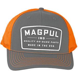 Magpul Go Bang Trucker Cap One Size Fits Most Mesh Back Panels Charcoal/Orange