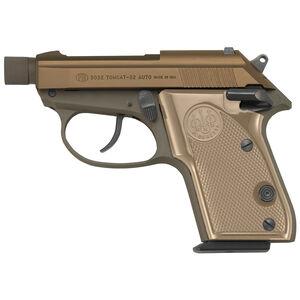 "Beretta 3032 Tomcat Covert .32 ACP Semi Auto Pistol 2.9"" Threaded Barrel 7 Rounds FDE Polymer Grips Fixed Sights Flat Dark Earth Finish"