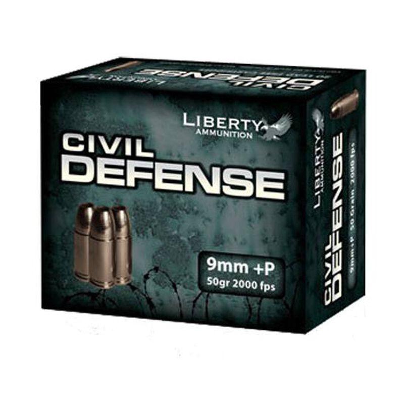 Liberty Civil Defense 9mm Luger +P 20 Rounds 50 Grain Copper Hollow Point 2000 fps