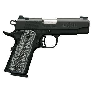 "Browning 1911-380 Black Label Pro Compact .380 ACP Semi Auto Handgun 8 Rounds 3.625"" Barrel G10 Grips Matte Black"