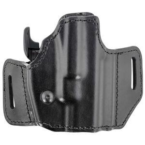 Bianchi 126GLS Assent Holster fits GLOCK 26 and Similar Right Hand Belt Slide Plain Leather with Laminate Liner Black
