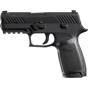"SIG Sauer P320 Carry Semi Auto Handgun 9mm Luger 3.9"" Barrel 17 Rounds Contrast Sites Black Polymer Grips Black Nitron Finish 320CA-9-B"