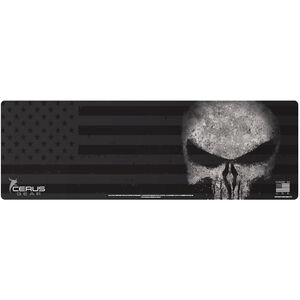"Cerus Gear Reaper American Flag Magnum XXL ProMat Rifle Size 14""x48"" Synthetic Reaper Skull with US Flag Black Color Scale"