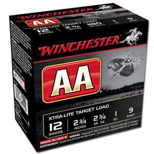 "Winchester AA Xtra-Lite 12 Ga 2.75"" #9 Lead 1oz 250 rds"