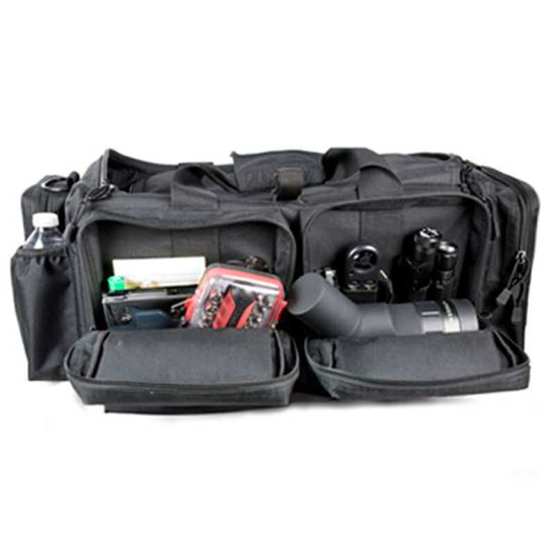 "NcSTAR Expert Range Bag 19""x10""x9"" Main Compartment with Pull Out Bag and Brass Bag Synthetic Fabric Black"