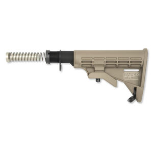 Tapco INTRAFUSE T6 AR-15 Commercial Complete Stock Assembly Kit Polymer Flat Dark Earth 16762