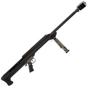 "Barrett Model 99 Bolt Action Rifle .50 BMG 32"" Heavy Barrel Single Shot Muzzle Brake Optics Rail Bipod Black"