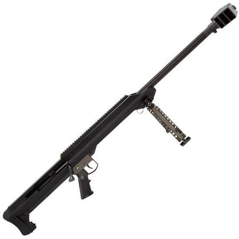 "Barrett Model 99 Bolt Action Rifle .50 BMG 32"" Heavy Barrel Single Shot Muzzle Brake Optics Rail Bipod Black"