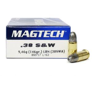 Magtech .38 S&W Ammunition 50 Rounds LRN 146 Grains 38SWA