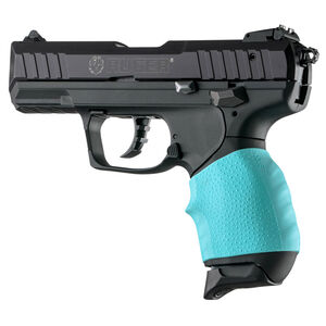 Hogue Handall Jr. Small Slip-On Grip Sleeve Most .22/.25/.380 Semi Auto Pistols Aqua