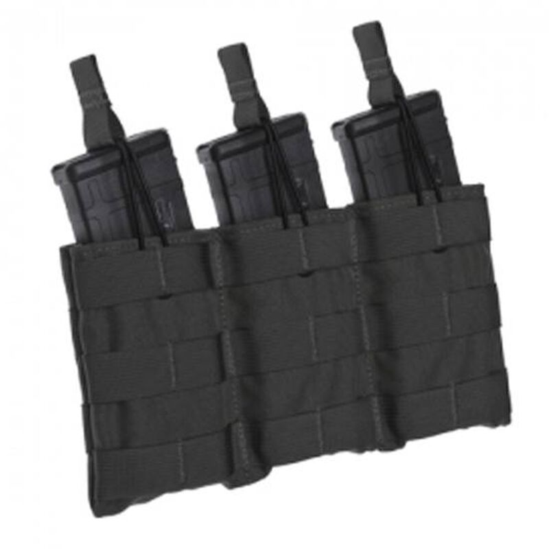 Tac Shield Triple Speed Load AR-15 Rifle Magazine Pouch 1000D Nylon Black T3508BK