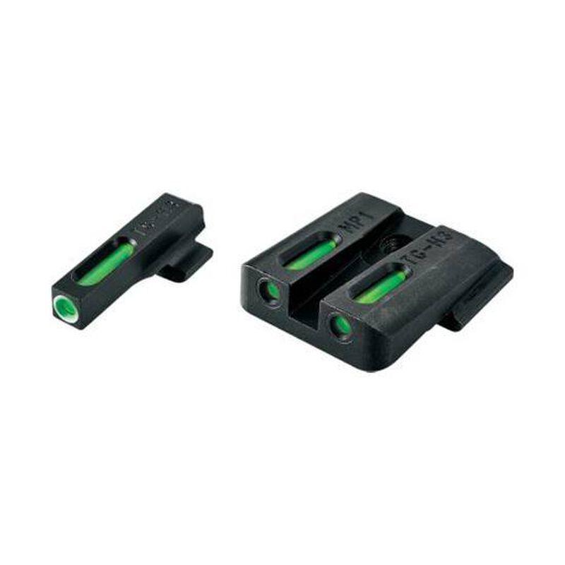 TRUGLO Novak .270/.450 Front Rear Set Sights TFX Tritium Fiber Optic Green Steel Black TG13NV2A