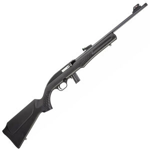 "Rossi RS22 .22 LR Semi Auto Rimfire Rifle 18"" Threaded Barrel 10 Rounds Fiber Optic Sight Synthetic Stock Matte Black Finish"