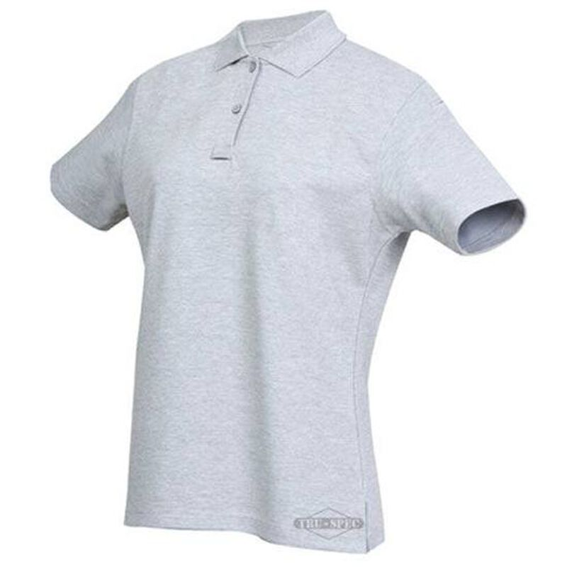 Tru-Spec 24/7 Series Ladies Short Sleeve Polo Cotton/Poly Large Heather Grey 4397005