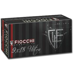 Fiocchi 9 X 18 Ultra Police Ammunition 50 Rounds 100 Grain Full Metal Jacket 1065 fps