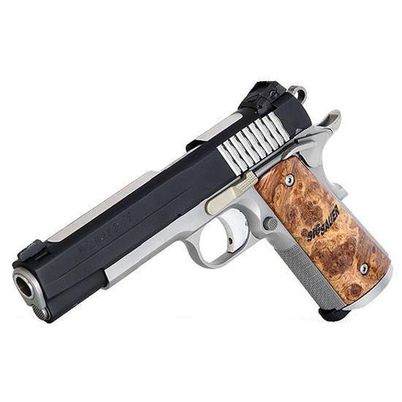 "SIG Sauer 1911 STX Semi Automatic Pistol .45 ACP 5"" Barrel 8 Round Capacity Maple Wood Grips Nitron Finish 1911-45-STX"