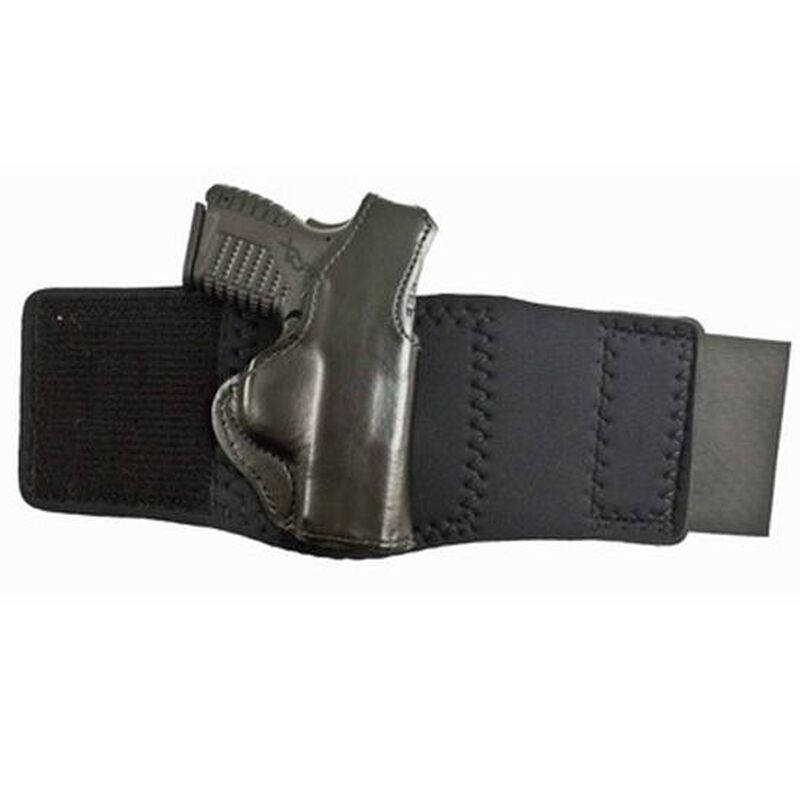 DeSantis Die Hard Springfield XD-S Ankle Holster Right Hand Leather/Neoprene Black 014PCY1Z0