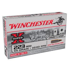 Winchester Super-X .223 Rem Ammunition 20 Rounds BTHP 55 Grains W223HP55