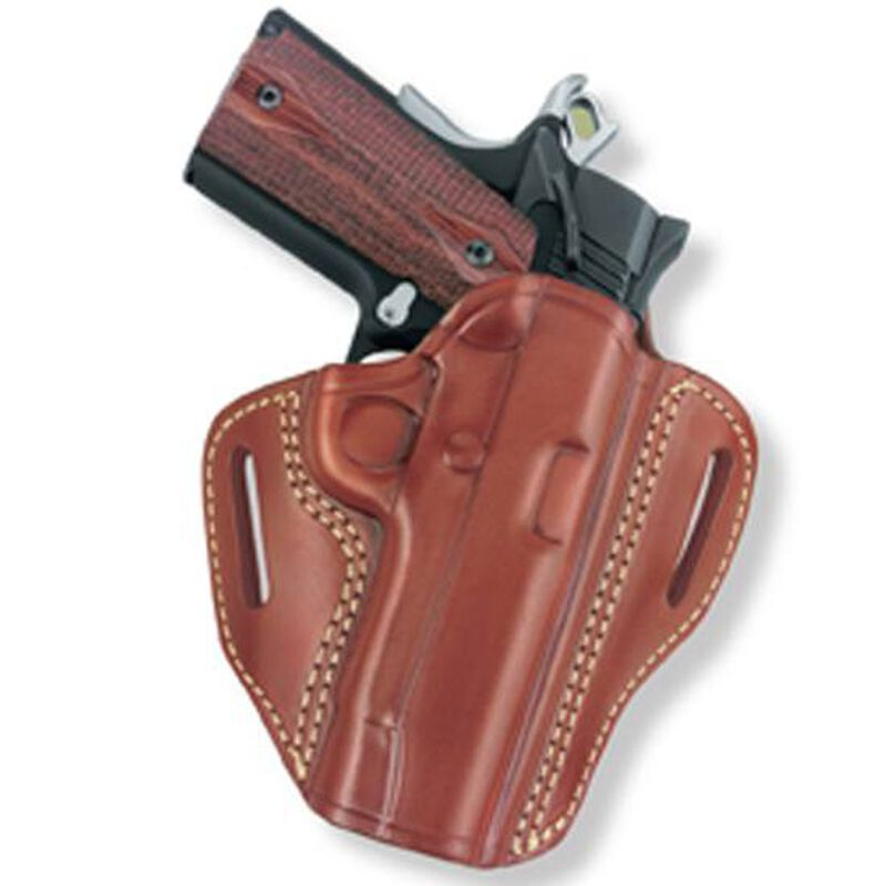"""Gould & Goodrich Gold Line Open Top Compact 1911 3""""-4.5"""" Two Slot Belt Holster Right Hand Leather Tan 800-194"""