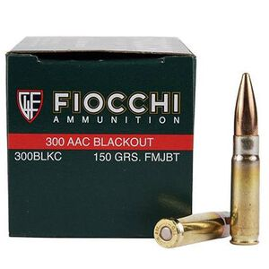 FIOCCHI Shooting Dynamics .300 Blackout Ammunition 50 Rounds FMJBT 150 Grains 300BLKC