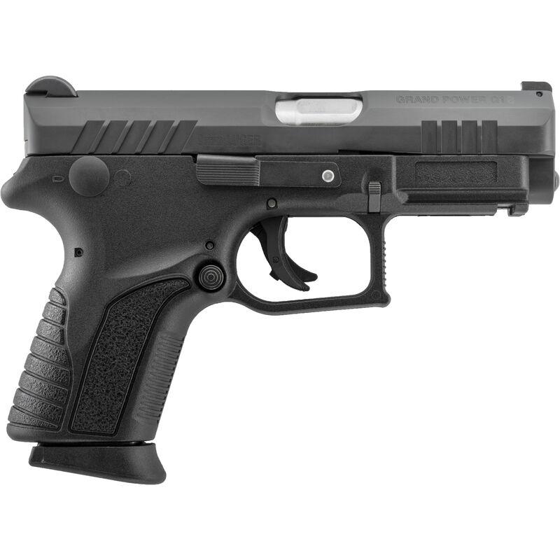 "Grand Power Q1S Mk12 9mm Luger Semi Auto Pistol 3.3"" Barrel 12 Rounds Striker Fired Polymer Frame Black Finish"