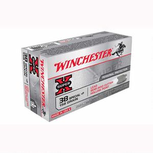 Winchester Super X .38 Special +P Ammunition 500 Rounds, LH PSWC, 158 Grains