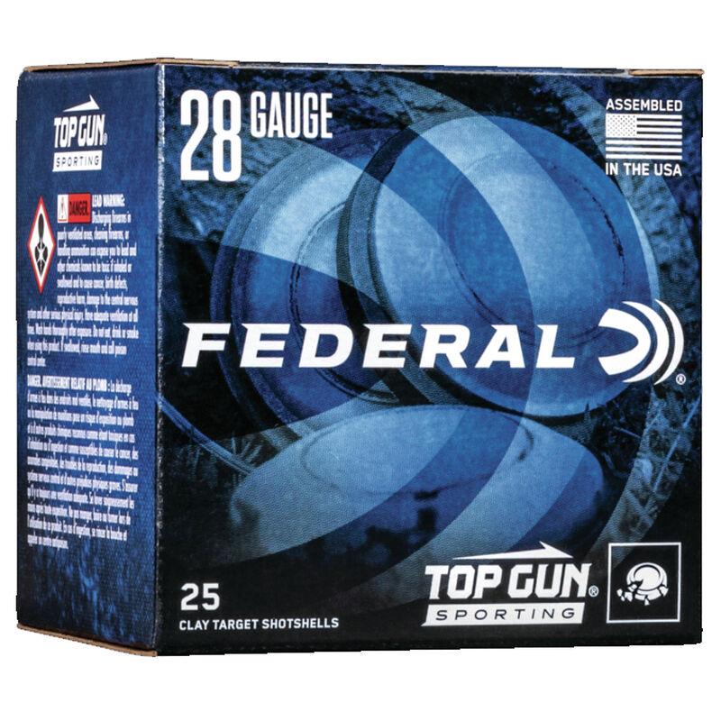 "Federal Top Gun Sporting 28 Gauge Ammunition 2-3/4"" Shell #9 Lead Shot 3/4oz 1330 fps"