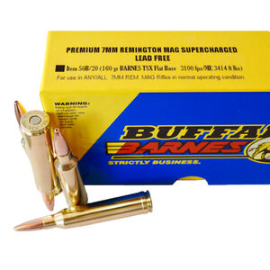 Buffalo Bore 7mm Remington Magnum Ammunition 20 Rounds TSX 160 Grains