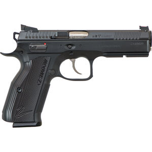 "CZ AccuShadow 2 Custom Semi Auto Pistol 9mm Luger 4.9"" Barrel 17 Rounds Aluminum Grips Black 91763"