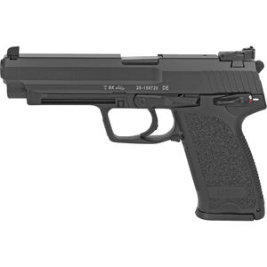 "Heckler & Koch USP45 Expert, 45 ACP, Single/Double Action Semi Auto Pistol, 5.19"" Barrel, 12 Rounds, Adjustable Sights, Polymer Frame, Black Finish"