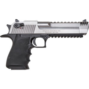 "Magnum Research Desert Eagle Mark XIX L6 Semi Auto Pistol .50 AE 6"" Barrel 7 Rounds Muzzle Brake Stainless and Black Finish"