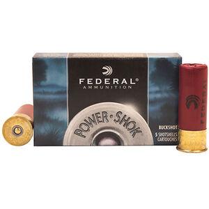 """Federal Power-Shok 20 Gauge Shotshell 5 Rounds 3"""" #2 Buck 18 Pellets"""